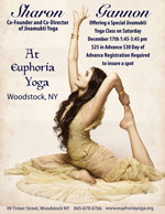 SHARON GANNON AT EUPHORIA YOGA!