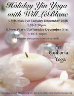 Holiday Yin Yoga with Will LeBlanc!